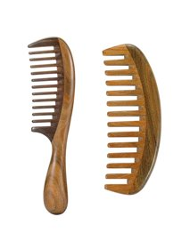 Louise Maelys 2pcs Sandalwood Wide Tooth Hair Combs