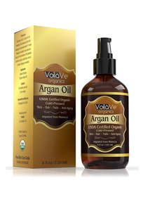 VoilaVe USDA and ECOCERT Pure Organic Moroccan Argan Oil for Skin